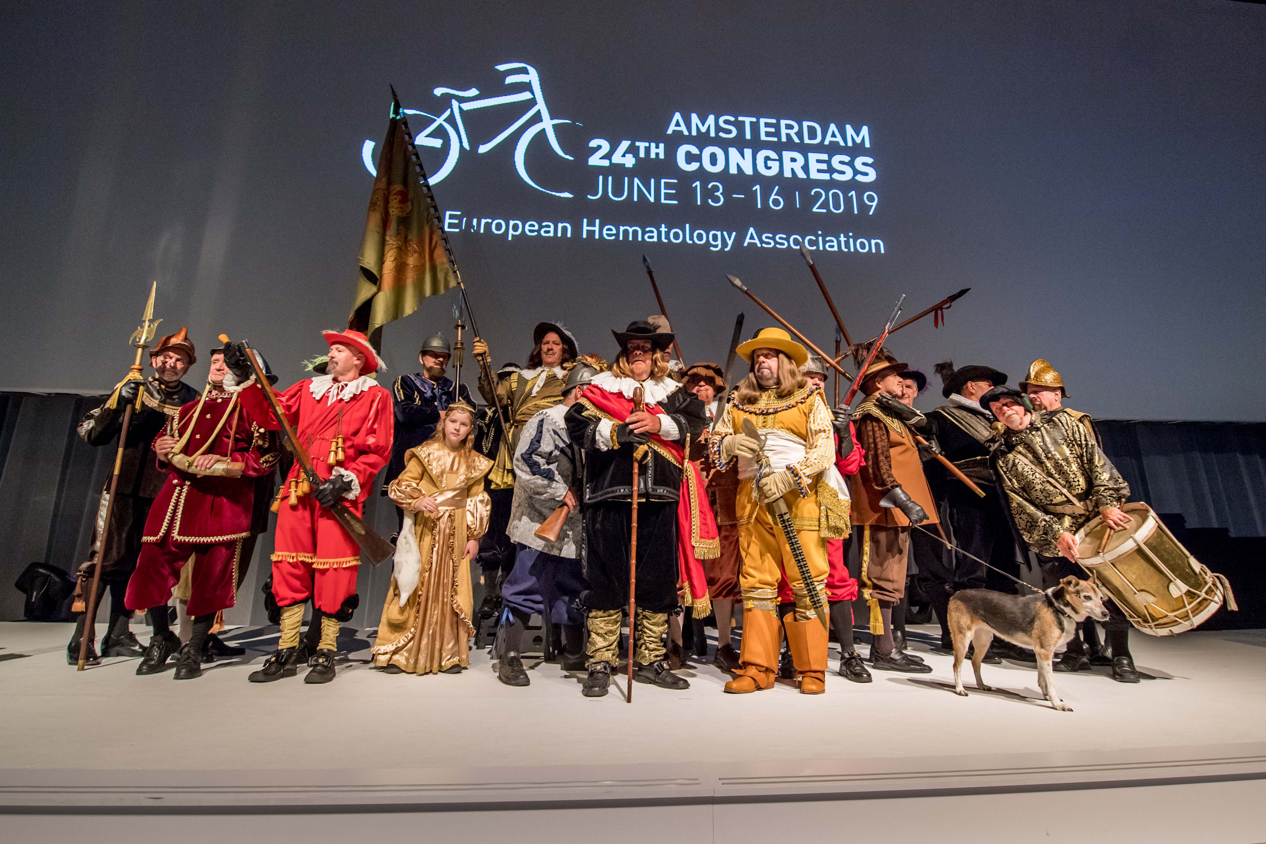 EHA Congress lived the Night Watch painting of Rembrandt